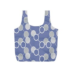 Round Blue Full Print Recycle Bags (s)