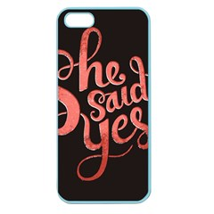 She Said Yes Apple Seamless Iphone 5 Case (color) by Jojostore