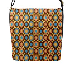 Round Color Flap Messenger Bag (l)  by Jojostore