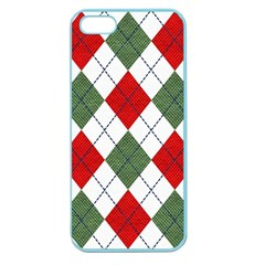 Red Green White Argyle Navy Apple Seamless Iphone 5 Case (color) by Jojostore