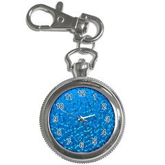 Shattered Blue Glass Key Chain Watches