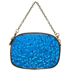 Shattered Blue Glass Chain Purses (two Sides)