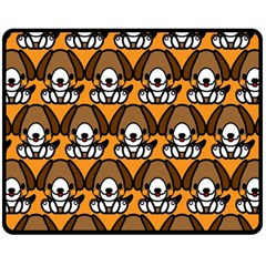 Sitbeagle Dog Orange Double Sided Fleece Blanket (medium)