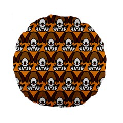Sitbeagle Dog Orange Standard 15  Premium Flano Round Cushions
