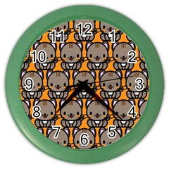 Sitcat Orange Brown Color Wall Clocks by Jojostore