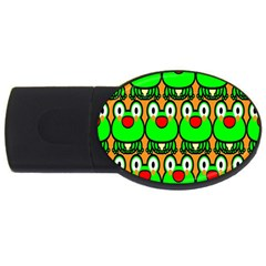 Sitfrog Orange Face Green Frog Copy Usb Flash Drive Oval (4 Gb)