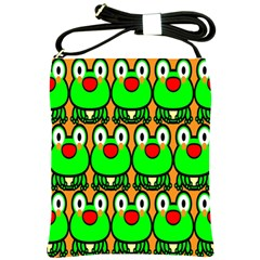 Sitfrog Orange Face Green Frog Copy Shoulder Sling Bags by Jojostore