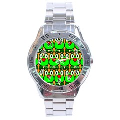 Sitfrog Orange Face Green Frog Copy Stainless Steel Analogue Watch by Jojostore