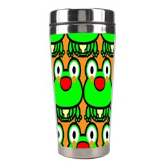 Sitfrog Orange Face Green Frog Copy Stainless Steel Travel Tumblers by Jojostore