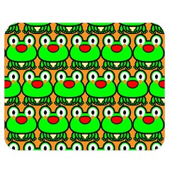 Sitfrog Orange Green Frog Double Sided Flano Blanket (medium)