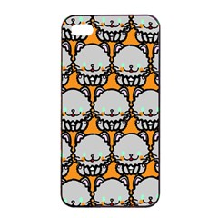 Sitpersian Cat Orange Apple Iphone 4/4s Seamless Case (black) by Jojostore
