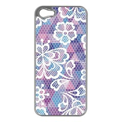 Cute  Colorful Nenuphar Phone Case Apple Iphone 5 Case (silver) by Brittlevirginclothing