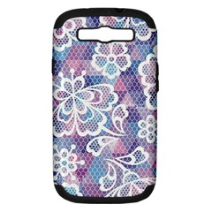 Cute  Colorful Nenuphar Phone Case Samsung Galaxy S Iii Hardshell Case (pc+silicone) by Brittlevirginclothing
