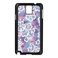 Cute  Colorful Nenuphar Phone Case Samsung Galaxy Note 3 N9005 Case (black) by Brittlevirginclothing