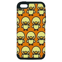 Small Duck Yellow Apple Iphone 5 Hardshell Case (pc+silicone) by Jojostore