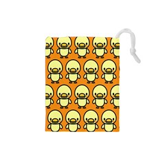 Small Duck Yellow Drawstring Pouches (small)