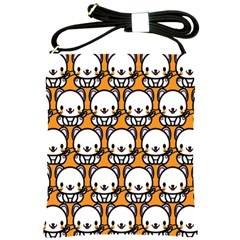 Sitwhite Cat Orange Shoulder Sling Bags by Jojostore