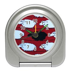 Sheep Pattern Travel Alarm Clocks
