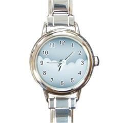 Soft Pure Backgrounds Round Italian Charm Watch by Jojostore