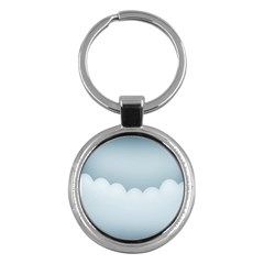 Soft Pure Backgrounds Key Chains (round)