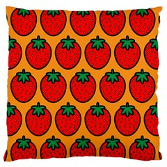 Strawberry Orange Standard Flano Cushion Case (one Side) by Jojostore