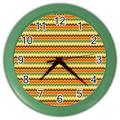 Striped Pictures Color Wall Clocks by Jojostore
