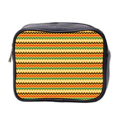 Striped Pictures Mini Toiletries Bag 2 Side