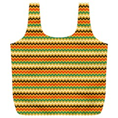 Striped Pictures Full Print Recycle Bags (l)