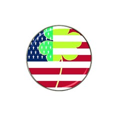 Usa Ireland American Flag Shamrock Irish Funny St Patrick Country Flag  Hat Clip Ball Marker (4 Pack)