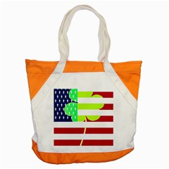 Usa Ireland American Flag Shamrock Irish Funny St Patrick Country Flag  Accent Tote Bag by yoursparklingshop