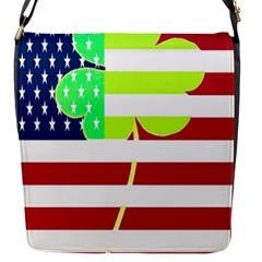 Usa Ireland American Flag Shamrock Irish Funny St Patrick Country Flag  Flap Messenger Bag (s) by yoursparklingshop