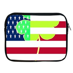 Usa Ireland American Flag Shamrock Irish Funny St Patrick Country Flag  Apple Ipad 2/3/4 Zipper Cases