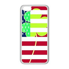Usa Ireland American Flag Shamrock Irish Funny St Patrick Country Flag  Apple Iphone 5c Seamless Case (white) by yoursparklingshop