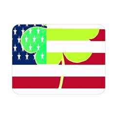 Usa Ireland American Flag Shamrock Irish Funny St Patrick Country Flag  Double Sided Flano Blanket (mini)  by yoursparklingshop