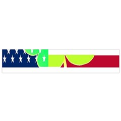 Usa Ireland American Flag Shamrock Irish Funny St Patrick Country Flag  Flano Scarf (small)