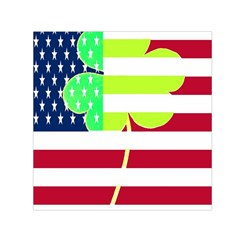 Usa Ireland American Flag Shamrock Irish Funny St Patrick Country Flag  Small Satin Scarf (square)