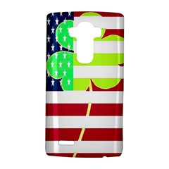 Usa Ireland American Flag Shamrock Irish Funny St Patrick Country Flag  Lg G4 Hardshell Case by yoursparklingshop
