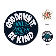 Be Kind Playing Cards (round)