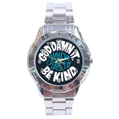 Be Kind Stainless Steel Analogue Watch