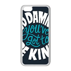 Be Kind Apple Iphone 5c Seamless Case (white) by Jojostore