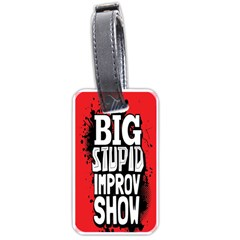 Big Stupid Profile Luggage Tags (two Sides)
