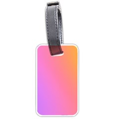 Blank Desk Pink Yellow Purple Luggage Tags (one Side)