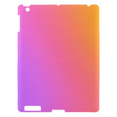 Blank Desk Pink Yellow Purple Apple Ipad 3/4 Hardshell Case by Jojostore