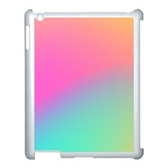Pink Blue Apple Ipad 3/4 Case (white) by Jojostore