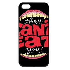 Cant Eat Apple Iphone 5 Seamless Case (black)