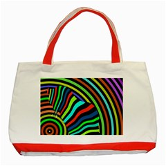 Colorful Cat Classic Tote Bag (red) by Jojostore