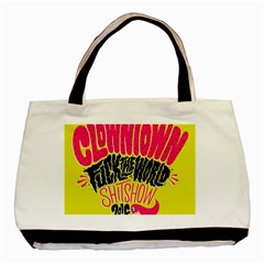 Clowntown Basic Tote Bag (two Sides)