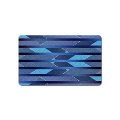 Abric Texture Alternate Direction Magnet (name Card) by Jojostore