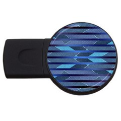 Abric Texture Alternate Direction Usb Flash Drive Round (4 Gb)