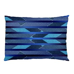 Abric Texture Alternate Direction Pillow Case (two Sides)